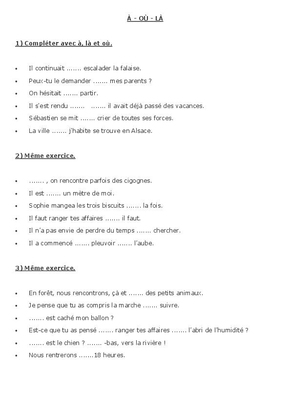 Exercices Sur L Accord Des Adjectifs De Couleur - Choix de ...